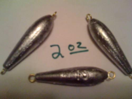 2oz inline torpedo trolling fishing sinkers 25ct with free shipping