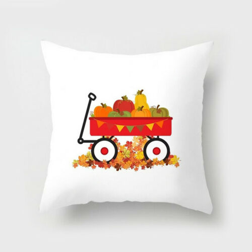 Fall Halloween Pumpkin Pillow Case Waist Throw Cushion Cover Sofa Home Decor NEW