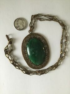 Green Necklace  Green and White  Moss Agate  Natural Stone  Sterling Silver Chain  Bib  Flat Oval Stones  Boho  Hippie  Maggie