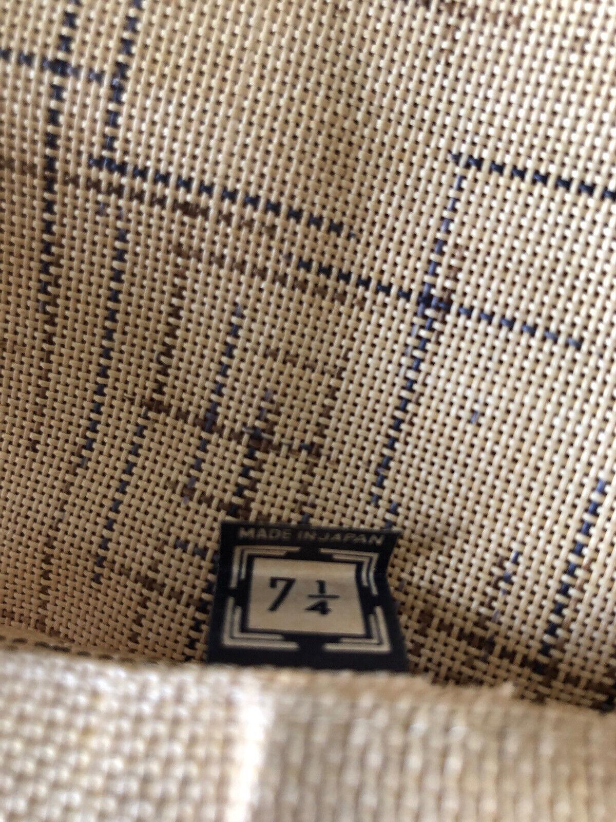 1950's Men's Japan Straw Newsboy Cap Size 7 1/4 - image 7