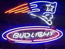 New Bud Light Beer New England Patriots Super Bowl LI NFL Neon Sign Ship From CA