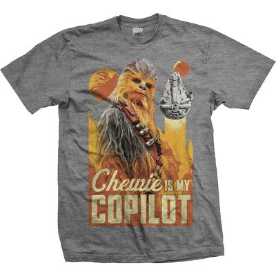 Star Wars Han Solo Movie Chewbecca Goggles Official Chewie Black Mens T-shirt
