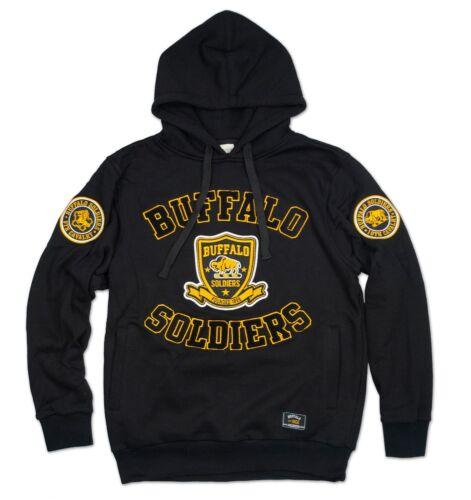 Buffalo Soldiers Mens New Athletic Hoodie Black