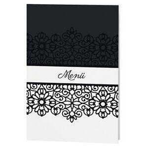 Menuekarte-726645D-11x17-cm-Menuekarten-Hochzeit-Speisekarten-Menue-Buffet-Karte