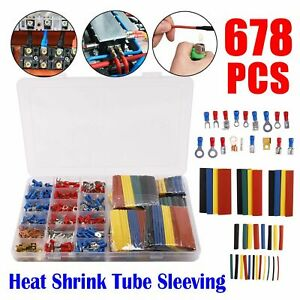 678x-Electrical-Cable-Wire-Connectors-Assorted-Insulated-Crimp-Terminals-Spade-O