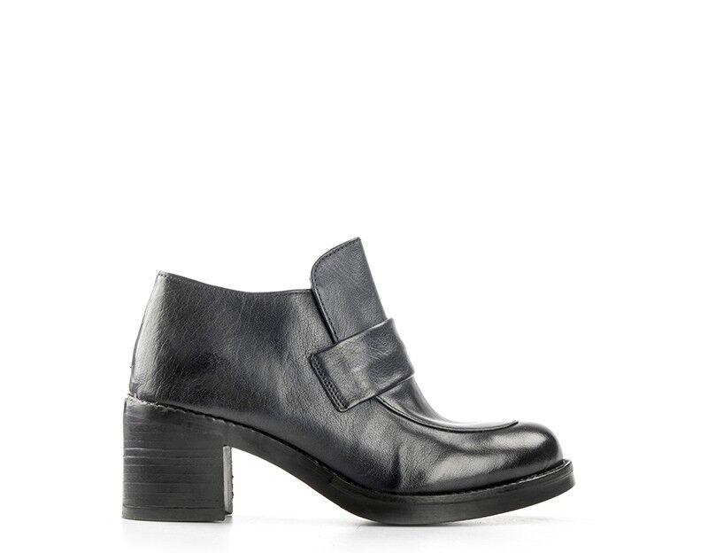 shoes EMANUELLE VEE women Tronchetti  blue Pelle naturale 362-425-14KA