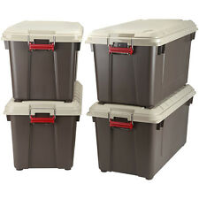Storage Trunk Set 4 Heavy Duty Tough Weatherproof Stack Box Locking Footlocker