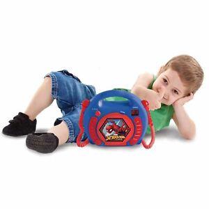 Marvel-Spiderman-Lecteur-CD-avec-Microphones-Enfants-Portable-Garcons