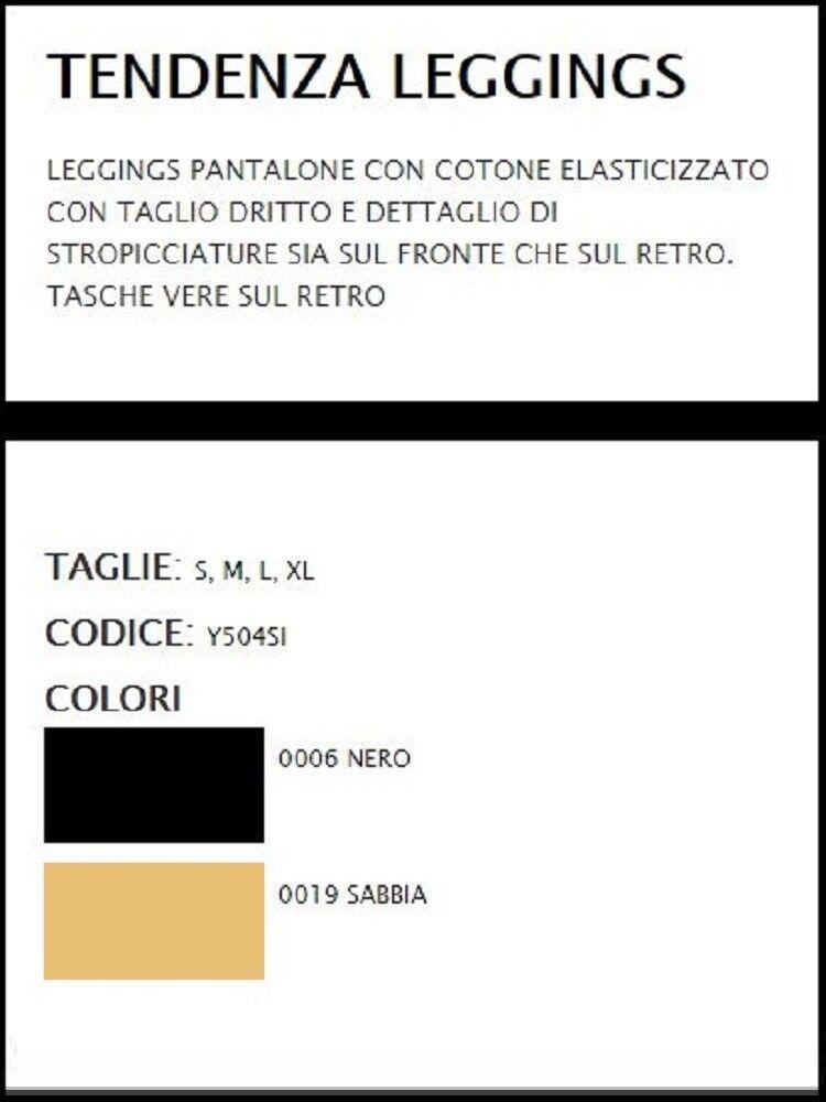 PANTALONE     LEGGING stretch con tasche vere - Tendenza Y504SI SISI moda PE 2018 7f74f9