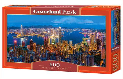 Puzzle 600 PEZZI-NUOVO CASTORLAND b-060290 Hong Kong Twilight