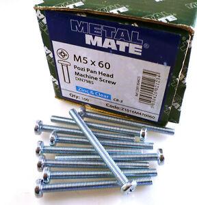 M5-60mm-Steel-Pozi-No-2-Pan-Head-Zinc-Machine-Screws-10-Pieces-MBE007L