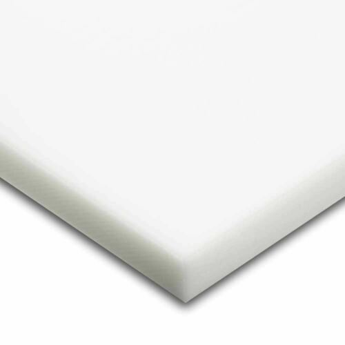 "1//8 x 24/"" x 48/"" Sheet 0.125/"" HDPE White Matte Finish Polyethylene"