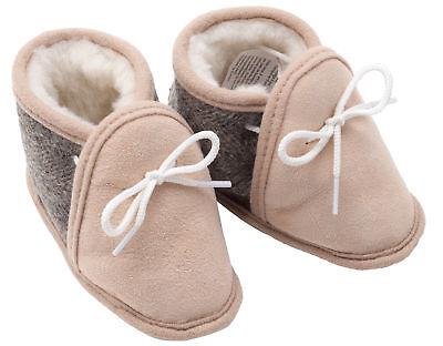 Childrens Baby Newborn Genuine Real Soft Sheepskin Booties Flexible Rubber Sole