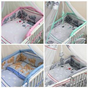 5 Pièce Bébé Literie Pare-chocs Set For Kids Enfants Lit Bébé 120x60 Cm 140x70-afficher Le Titre D'origine
