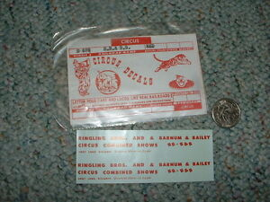Walthers decals HO Circus Ringling Bros Barnum Bailey combined red H13