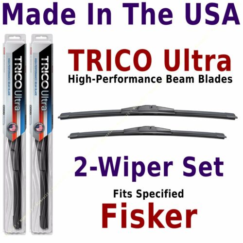 13-24-22 Buy American fits listed Fisker TRICO Ultra 2-Wiper Blade Set