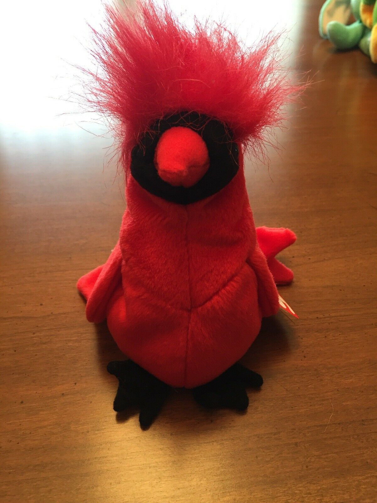 Ty Beanie Baby Mac Cardinal Red Red Red Bird 9  Plush 1999 With Heart Tag 23de00
