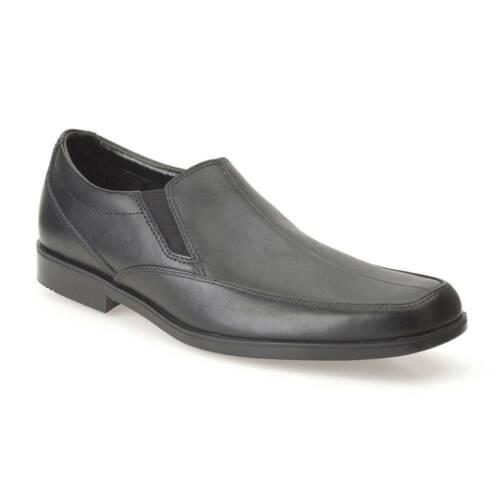 Clarks Hoxton Gent Boys Black School Shoe size uk kids children slip-on leather