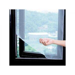 Moustiquaire Fenêtre Blanche 180 x 150 cm Amovible Fixation Simple Facile Scratc