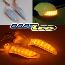 2pc 13 LED Soft Strip Yellow Car Rearview Mirror Turning Signal Light For Cooper