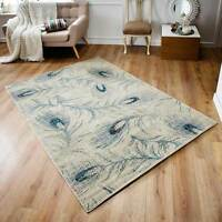 Cassandra Modern Wilton Rugs In Fashionable Designs, Peacock Pattern 120x180cm