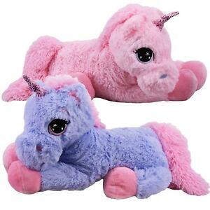 60-cm-grand-mignon-peluche-licorne-ourson-rembourre-Super-Doudou-couche-cheval