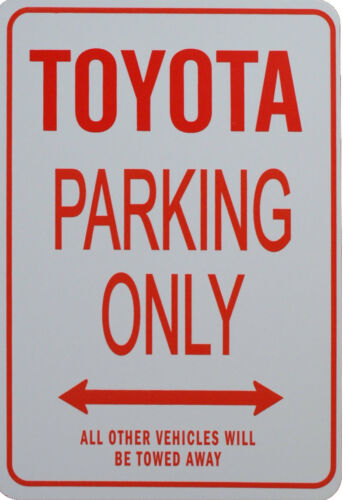 TOYOTA PARKING ONLY MINIATURE FUN PARKING SIGNS