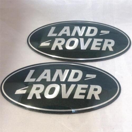 Nouveau oem land rover discovery 3 suralimenté grill /& boot badge ovale vert-argent