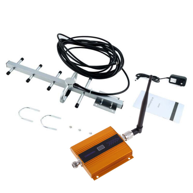 Gold GSM 900MHz Mobile Phone Signal Booster Repeater Amplifier + Yagi Antenna