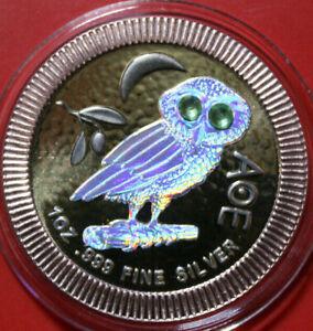 Niue-2-Dollars-2019-Silber-F3780-034-AOE-Athenian-Owl-034-ST-BU-Hologram-24k-gildet