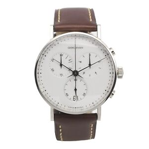 georg jensen koppel 317 chronograph gents watch quartz. Black Bedroom Furniture Sets. Home Design Ideas