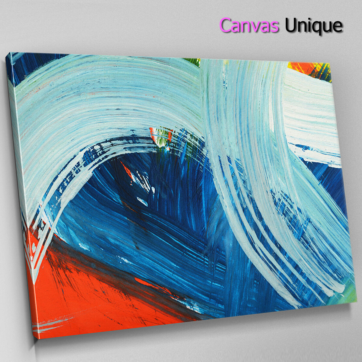 AB1428 Blau sky modern rot Abstract Wall Art Picture Large Canvas Print