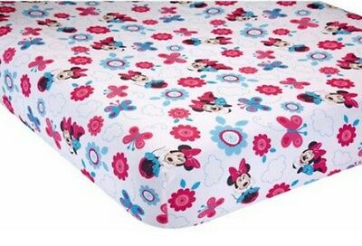 NEW DISNEY BABY MINNIE MOUSE HELLO GORGEOUS TODDLER BED// CRIB FITTED SHEET.