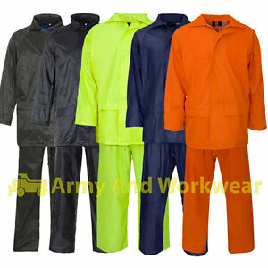 Result Waterproof Windproof Rain Suit Jacket//Coat /& Trousers Set