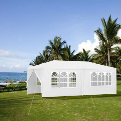 3x6m Gazebo Party Tent Outdoor Garden Patio Canopy Full Cover with Window /& Zips