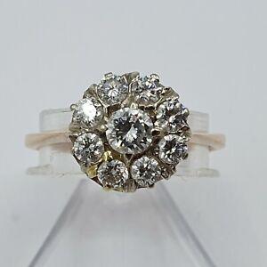 russicher-Art-Deco-Ring-Rot-Gold-583-ca-0-94ct-Alt-Brilliant-Gr-55