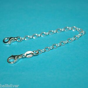 6-pieces-Sterling-Silver-925-4-034-Safety-CHAIN-EXTENDERS-with-2-Lobster-Clasps-Lot