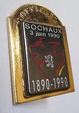 Pin's Officiel Sochaux - Peugeot 3 juin 1990 (100 ans) double accroche et moule