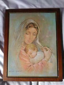 Carlo-Parisi-quadro-Madonna-con-Bambino-36x46x2-cm-quadri-legno-dipinto
