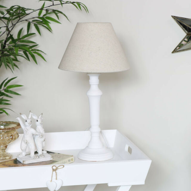 Shabby Chic Wooden Spindle Table Lamp