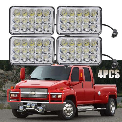 4xLED Headlight Hi Lo Beam For Chevrolet Kodiak C4500 and C5500 2003-2009 Models