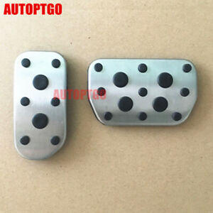 AT Foot Brake Gas Fuel Pedal Cover For Toyota Corolla Rav4 2014-2017