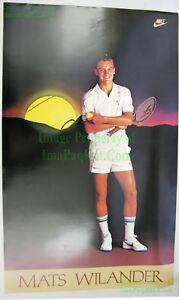 NITF-Vintage-Original-NIKE-Tennis-Poster-Mats-Wilander-PDC-Ref-Stock
