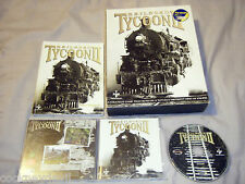 Railroad tycoon II Original Big boxed 2000  Sid Meier's PC game vgc