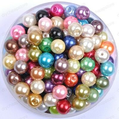 Mixed Quality Czech GLASS PEARL Round & Loose BEADS Choose 4MM 6MM 8MM 10MM 12MM