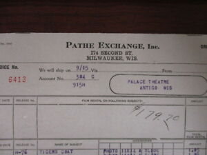 Movie letterhead Pathe exchange Hobart Bosworth Kathlyn Williams Lawson Butt