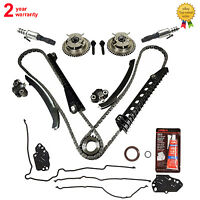 Timing Chain Kit+cam Phasers+valves+gasket For Ford Lincoln 5.4 Triton 3-valve