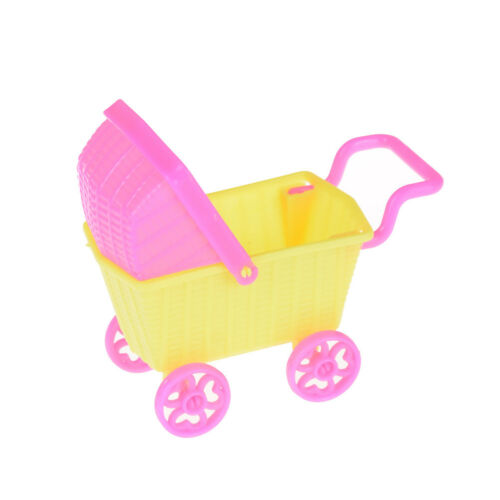 Mini Doll Shopping Cart Trolley Doll House Furniture Kid Toy For  Ff