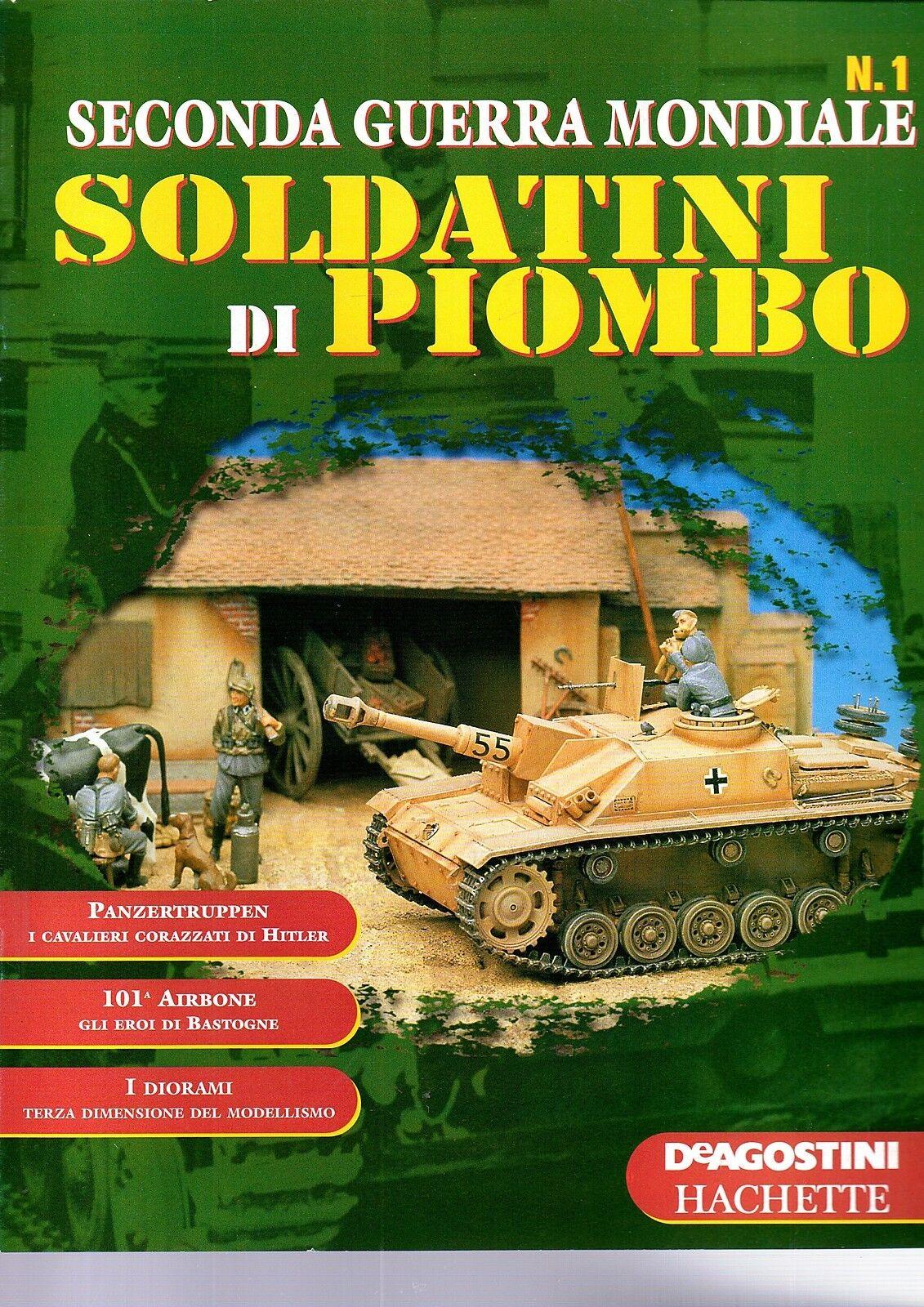 SOLDATINI DI PIOMBO - Seconda guerra mondiale  fascicoli 1 50 COMPLETA  NUOVO