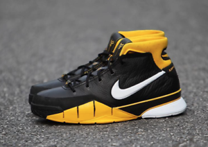 new style cd4e7 eeaf5 Image is loading Nike-Kobe-1-Protro-Black-White-Varsity-Maize-